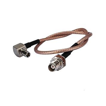 Cable coaxial RF de 1,52 m Tnc Hembra a Ts9 Macho RG316 15 cm para Antena inalámbrica: Amazon.es: Electrónica