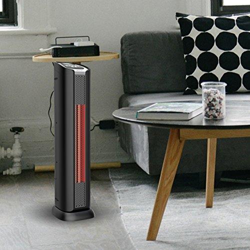 lifesmart 24 2 element quartz infrared electric portable. Black Bedroom Furniture Sets. Home Design Ideas