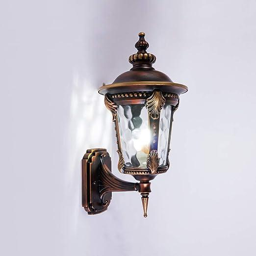 KOKOF Aplique de jardín Exterior,Luz de Pared LED,Luz de la Pared ...