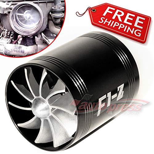 FidgetGear for AIR INTAKE DUAL FAN BLACK Turbo Supercharger Turbonator Gas Fuel Saver fit MAZDA: