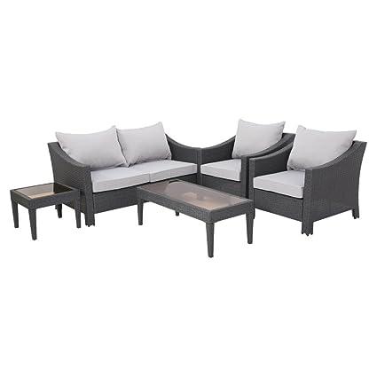 Best Selling Home Decor Furniture Destiny Wicker 5 Piece Patio Conversation  Set