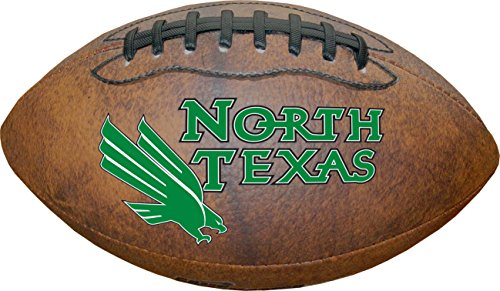 - NCAA North Texas Mean Greens Color Logo Mini Football, 9-Inches