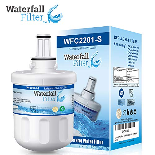 Waterfall Filter - Refrigerator Water Filter Compatible with Samsung Aqua-Pure DA29-00003G