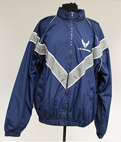 US AF Air Force PT Physical Fitness Jacket, Large Long, ()