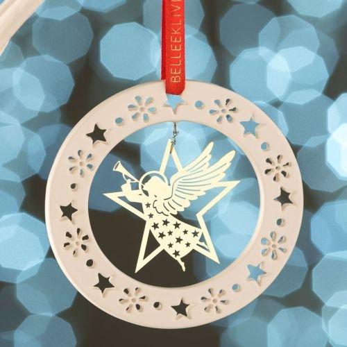 Belleek Gold Angel Ornament -