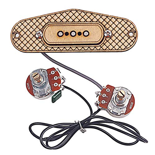 Guitar Pickup,hAohAnwuyg Orchestral Instrument,Maple Wood Three-string 3-Pole Cigar Box Guitar Pickup Replace Music Accessories