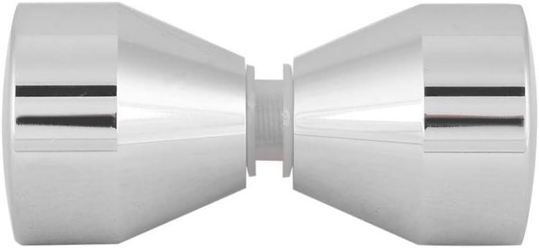 poign/ée chrom/ée en Alliage daluminium pour Porte de Douche en Verre /à la Maison Smandy Poign/ées de Porte #3