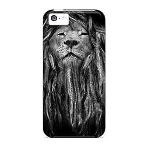 RandileeStewart Apple Iphone 5c Protector Hard Phone Cover Provide Private Custom Stylish Rasta Lion Series [XkB6109PwHK]