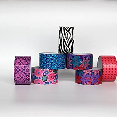 Tapery Colored Duct Tape, 5 yards, different patterns (Pack of 6)