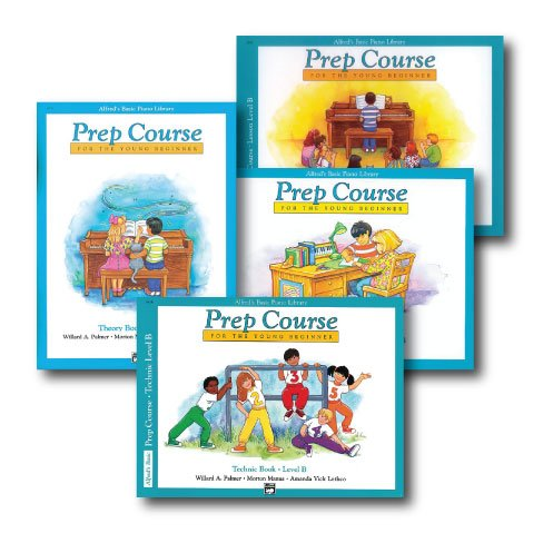 Alfred's Basic Piano Prep Course Level B - Four Book Set - Includes Lesson, Theory, Technic, and Notespeller books ()