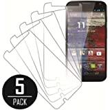 Motorola Moto X Screen Protector Cover, MPERO Collection 5 Pack of Clear Screen Protectors for Motorola Moto X (1st Gen)
