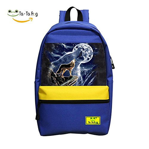 Wolf Spirit Moon Student Backpack School Bag Cool Various Super Bookbag Break