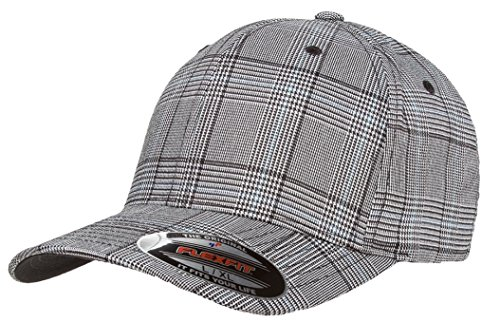 flexfit-check-cap-6196-black-white-s-m