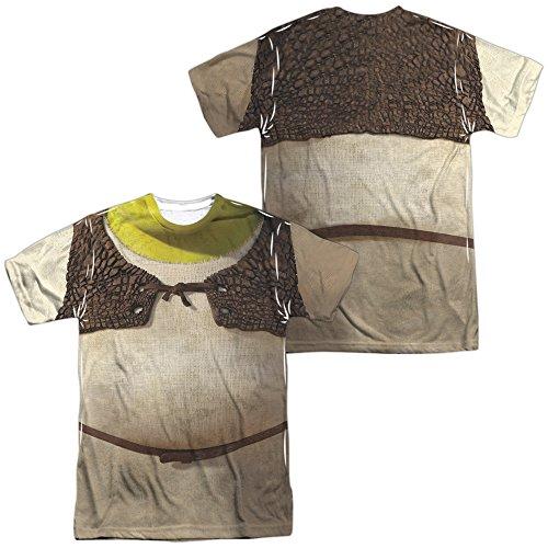 Shrek Ogre Adult Sublimation Costume T-Shirt (Adult Large) -