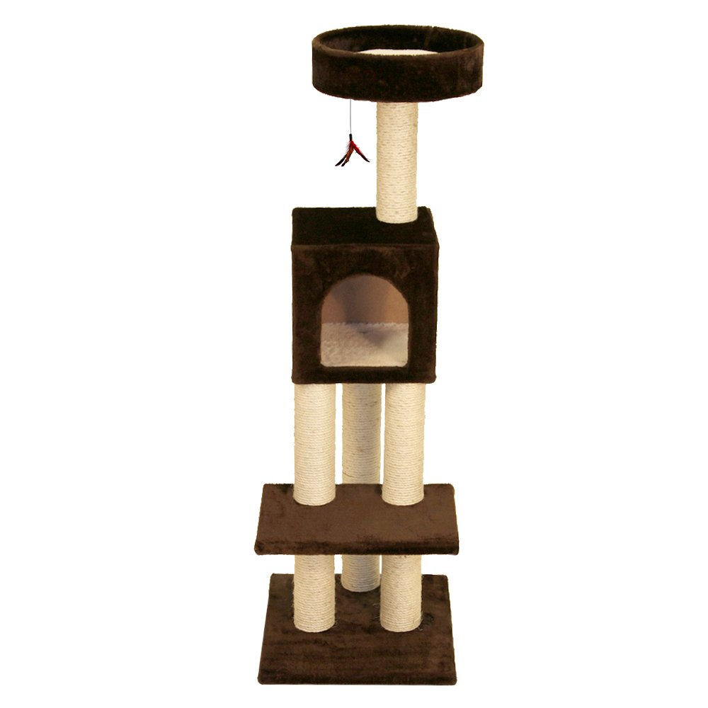 North American Pet Products NA48553 Kitty Fun Tower with Hideout