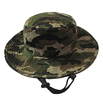 "Happy Cherry Baby Summer Camouflage Bucket Hats With Chin Straps Side Button Size 51cm,Light Camo,2-3YRS(20.07"" Head Size)"