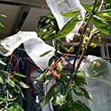 QEES 20 Pcs Nylon Mesh Bags Filter Plant Fruit Flower Protect Bag Plant Seed Carrier Mosquito Netting Garden Insect Barrier Bag FCWD01