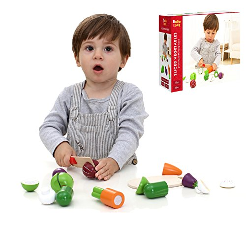 Babe Rock Play Kitchen Cooking Toys Wooden Pretend Play Vegetables Food Early Educational Learning for 2 Year Old Kids Toddler Boys Girls for $<!--$16.99-->