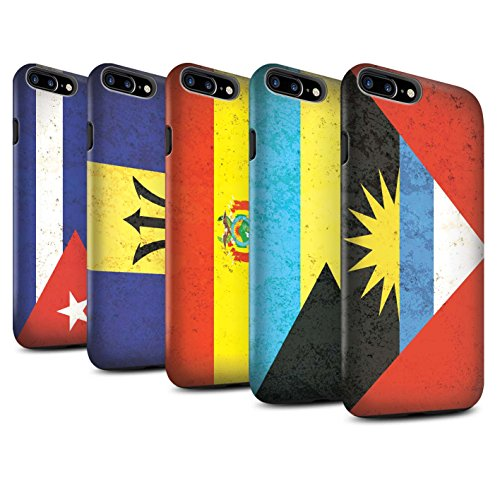 STUFF4 Matte Harten Stoßfest Hülle / Case für Apple iPhone 8 Plus / Pack 16pcs / Amerika Flagge Kollektion