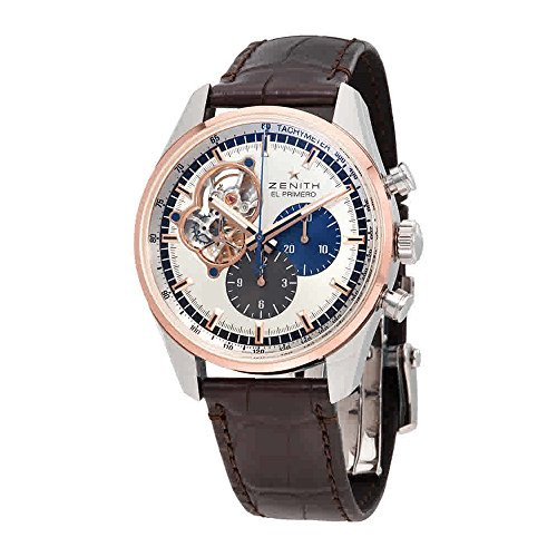 Zenith El Primero Auto Chronograph 18kt Rose gold & stainless steel case Mens Watch 51.2080.4061/69.C494