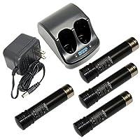 HQRP Battery Charger and Four Batteries for Black & Decker 3.6V Versapak VP100 VP110 22-4040 22-4035 VP130 VP100C VP105C VP110C 152370-03 Power Tools + HQRP Coaster