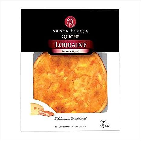 Quiche Lorraine (bacon y queso) Santa Teresa: Amazon.es: Alimentación y bebidas