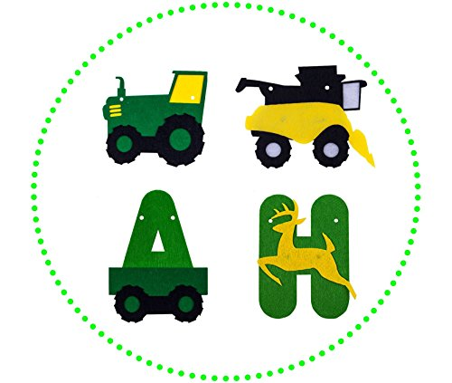 Green Tractor Birthday Banner - decorations - party supplies - party banners - john deere by JAGGER M (Image #3)