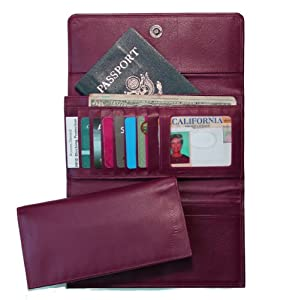 RFID Blocking Womens Leather Wallet and Checkbook by Access Denied