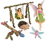 Patio Eden 6 Piece Fairy Garden Accessories Set - Miniature Fairies for Garden Kit
