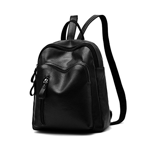 Black Fashion Backpack Soft PU Leather Schoolbag Girls Casual Day Pack Anti-theft Shoulder - Columbia Columbia Place Sc