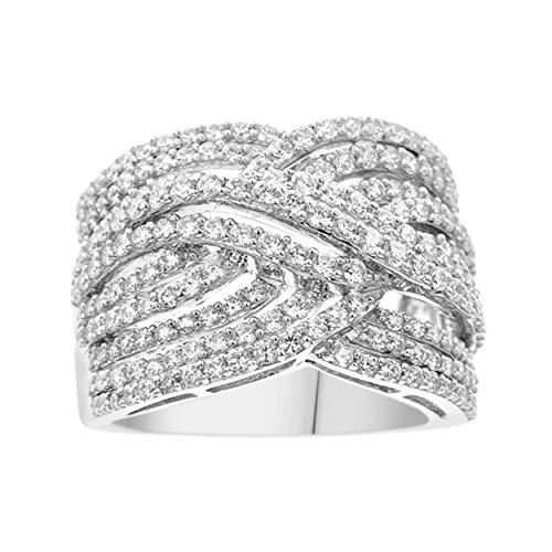 NATALIA DRAKE 10kt White Gold 2Ctw Genuine Round Diamond Fashion Ring (SZ 7) ()