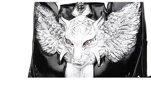 de mochila 3D calidad mochila patrón 35L 20 realista alta PU Mens de Black portátil animal mochila la computadora portátil 40wdPnx