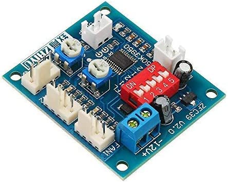 ROUHO DC 12V Cuatro Alambre Termostato Pwm Pc CPU Ventilador ...