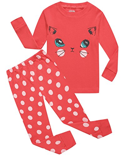 Girls-Pajamas-Toddler-Clothes-Cat-Little-Kids-Pjs-Sets-Cotton-Sleepwears-Shirts