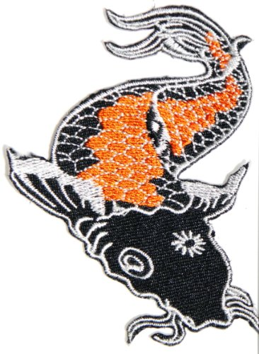 Japanese Koi Fish Asain Lucky Animal Tatoo Lady Rider Jacket T shirt Patch Sew Iron on Embroidered Badge Sign Costum - Incredibles Costume Lady Name