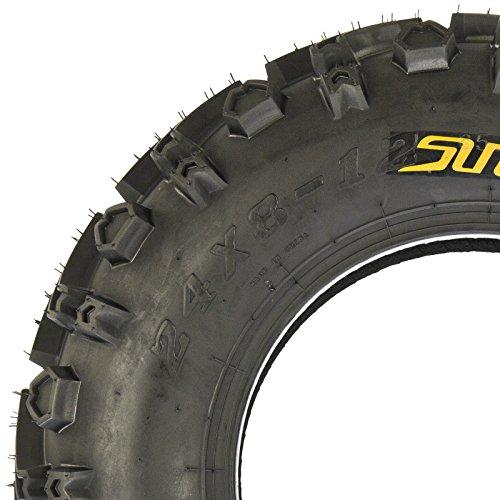 SunF 24x8-12 24x8x12 All Terrain Mud ATV UTV Tires 6 PR A041 (Set pair of 2) by SunF (Image #8)