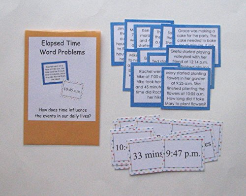 Teacher Made Math Center Learning Resource Game Elapsed Time Word -