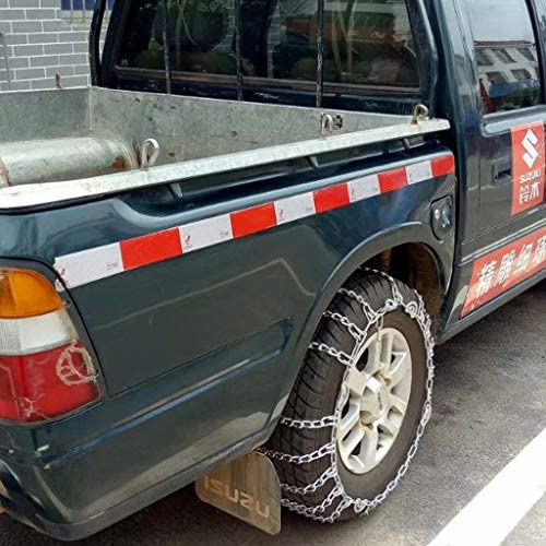 携帯用緊急牽引車のスノータイヤの滑り止めの鎖 タイヤチェーン 金属製 ほとんどの自動車SUVトラックに適した車の雪のチェーン滑り止めタイヤチェーン冬の一般的な緊急チェーン TPUバンおよび軽トラック用ユニバーサルフィットタイヤ繰り返し使用 (Size : 225/65R17)