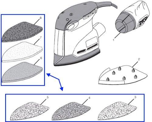 Ryobi CFS1501 CFS1502 CFS1503 CFS1503K Sandpaper & Scrub Pad Kit (Ryobi Sheets Sanding)