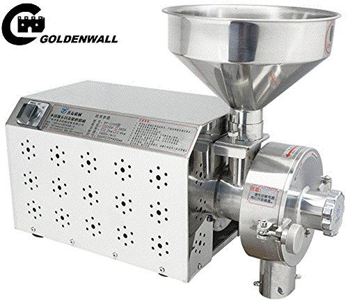 CGOLDENWALL SY-2200 Small Stainless steel grain mill Food Processing Machinery Multi Function Grain Grind Mill superfine grain grinderPowdering machineLapping machine (220V) by CGOLDENWALL