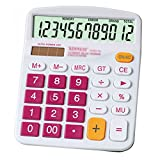 Kennedy Cute Cartoon Colorful 12 Digit Calculator With Large Button For Office & Home Use(Pink)