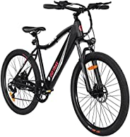 GOTRAX Emerge 26inch Electric Bike with 36V 7.5Ah Removable Battery, 350W Powerful Motor up 20mph, Shimano Pro