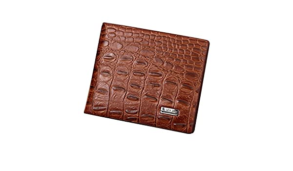 2018 Fashion New Alligator Grain Men Leather Wallets Coin Pocket Man Card Holder Purse Wallet for Men at Amazon Mens Clothing store: