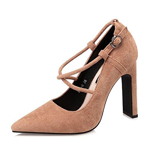 pour Chaussures Automne Été Chaussures Talons Taille et Fée EU39 à Femmes moiselle D'honneur Mariée Printemps UK6 YLLHX Chaussures Hauts Danse strassde Princesse CN39 de Pointue 5IF0xI