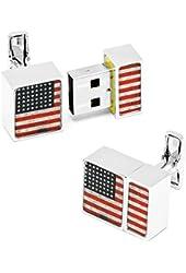 4GB USA Flag USB Flash Drive Cufflinks