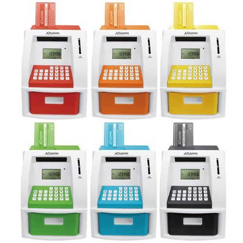 [Color] Random piggy bank ATM automatic calculation coin identification memory bank ATM security (japan import)