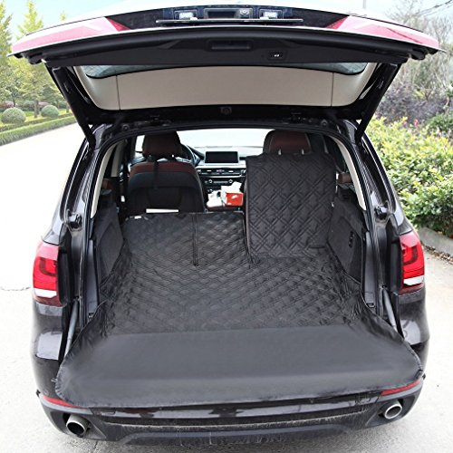 SUV Cargo Liner Cover ,Cargo liner Protector for Fold Down Seats,Waterproof ,Bumper Flap Protector,Nonslip Backing, Heavy Duty Material, Several Sizes Fit for your SUV,Black …