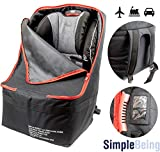 Simple Being Padded Baby Car Seat Travel Bag, Infant Carriers Booster Cover Protector for Air Travel (Black)