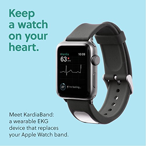 Alivecor® KardiaBand for Apple Watch | FDA Cleared | Wearable Wristband 30-second EKG | Works with Apple Watch to Evaluate EKG | Helps Detect Afib Anytime, Anywhere (42 MM)