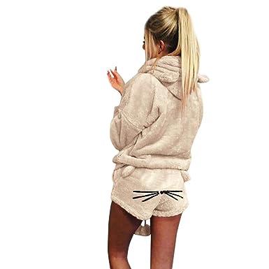 Ropa Casual Mujer Hoodie Shorts Y 2 Piezas Set Mode De Marca Otoño ...
